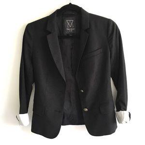 ARITZIA Talula Blazer Black Roll Sleeves 2